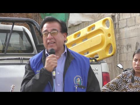 PRIMERA PIEDRA: PISTAS Y VEREDAS DE LA AV. 04 DE NOVIEMBRE SEGUNDA ETAPA