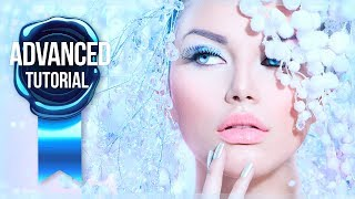Advanced Photoshop Tutorial #26 - Frequency Separation Beauty Retouch With The Mixer Brush