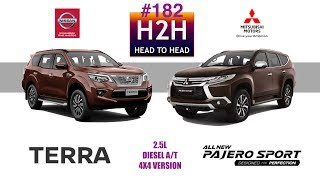 Video H2H #182 Nissan TERRA vs Mitsubishi PAJERO SPORT MP3, 3GP, MP4, WEBM, AVI, FLV Desember 2018