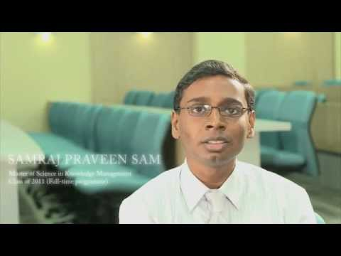 MSc in Knowledge Management Class of 2011 – Samraj Praveen (Part 1/3)