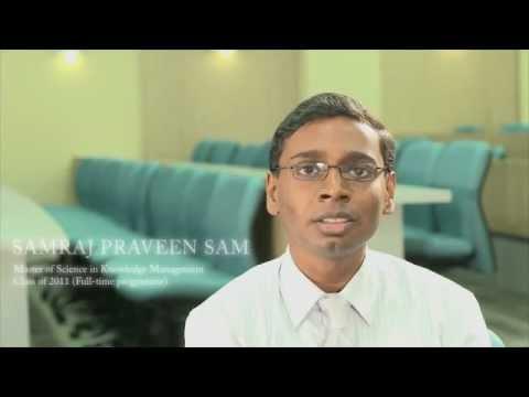 MSc in Knowledge Management Class of 2011 – Samraj Praveen (Part 1/3)