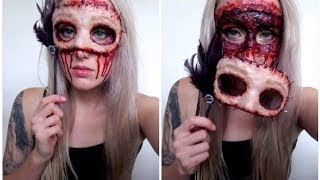 DIY Masquerade Flesh Mask Tutorial - YouTube