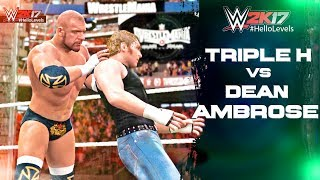 Playing As TRIPLE H vs Dean Ambrose In WWE 2K17 I'll Be Playing More Of WWE 2K17 On This Channel. If That Sounds Good...
