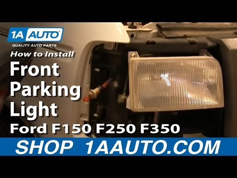 How To Install Replace Front Parking Light Ford F150 F250 F350 92-96 1AAuto.com