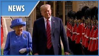 Video Donald Trump meets the Queen for tea MP3, 3GP, MP4, WEBM, AVI, FLV Oktober 2018