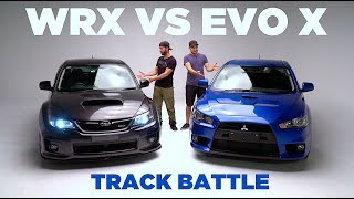 WRX VS EVO X Track Battle [LOSER SELLS CAR] Video