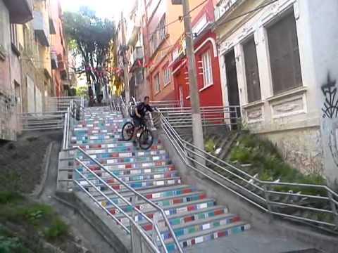 escadaria Duque de Caxias - André da Rocha - Porto Alegre - Bike
