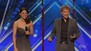 Video America's Got Talent 2016 Amelie and Thommy The Clairvoyants Full Audition Clip S11E01 MP3, 3GP, MP4, WEBM, AVI, FLV Mei 2019
