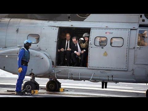 Επίσκεψη Ολάντ στο αεροπλανοφόρο Charles de Gaulle- Συνάντηση με Νίκο Αναστασιάδη