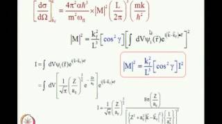 Mod-01 Lec-33 Atomic Photoionization Cross Sections, Angular Distributions Of Photoelectrons - 3