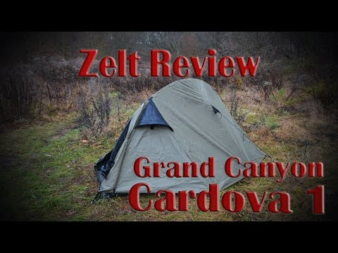 Grand Canyon Cardova 1/ Zelt Review/ Fairbanks Schlafsack/ 2016