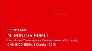 Video Pernyataan M.Guntur Romli (Juru Bicara Tim Kampanye Nasional Jokowi-Ma'ruf Amin) MP3, 3GP, MP4, WEBM, AVI, FLV Oktober 2018