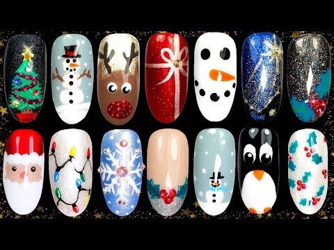 10 Easy Christmas Nail Art Ideas  - Nail Design Compilation