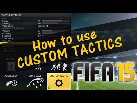 Tactics - In this tutorial you will be able to find out how to us custom tactics in FIFA 15 FUT and H2H. Can we get 400 LIKES for this cool tutorial? • Twitter: https://twitter.com/OvidiuPatrascu •...