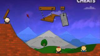 Walkthrough on how to beat level 6 of Vampire Physics Game at Addicting Games www.casualcheats.com