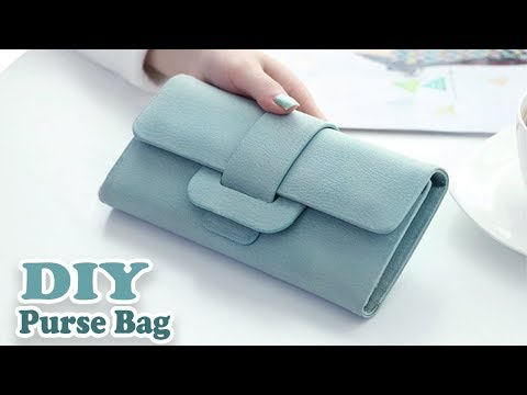 DIY CUTE PURSE BAG PU LATHER NO SEW  Woman Wallet Bag Tutorial Out Of Old Bag