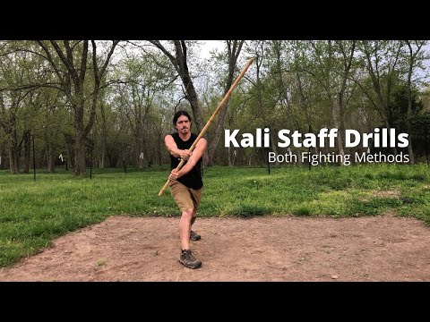 Kali Staff Drill with Both Fighting Methods | Kali Escrima Arnis