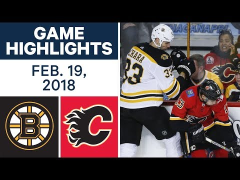 Video: NHL Game Highlights - Bruins vs. Flames - Feb. 19, 2018