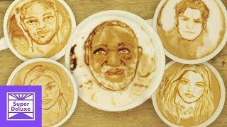 Celebrity Mug Shot Latte Art | Stoned Mode