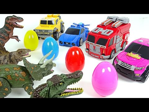 Miniforce vs Dinosaurs! Surprise eggs hunting wars - DuDuPopTOY