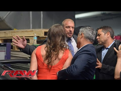 Stephanie McMahon is escorted out of the arena: Raw  July 21  2014 22 July 2014 09 AM