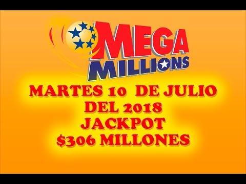 Resultados Mega Millions 10 de Julio 2018 $306 Millones de dolares Powerball en Español