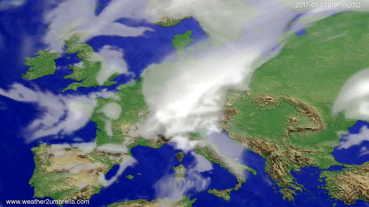 Cloud forecast Europe 2017-08-28