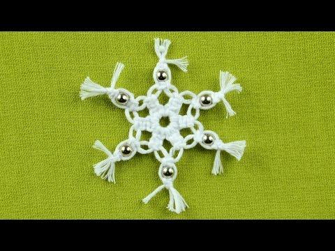 macrame - fiocco di neve