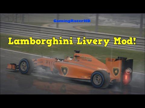 F1 2014 – [Caterham] Lamborghini Livery Mod! (1080p HD)
