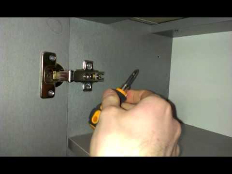 Как отрегулировать дверцы шкафа и мебели. Регулировка петель самому, (видео)