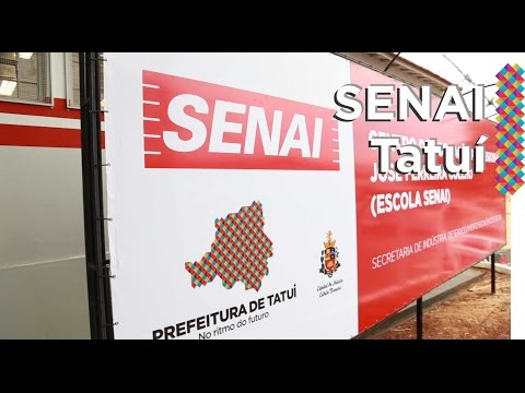 Inauguração do SENAI em Tatuí