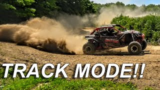 9. The CanAm Maverick X3 Turbo switches to TRACK MODE!