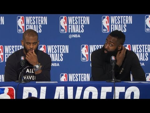 James Harden & Chris Paul Postgame Interview - Game 4 vs Warriors