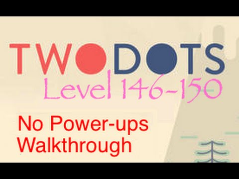 150 - Complete walkthrough of levels 146-150 of the game TwoDots (Two Dots), the sequel to the addictive Dots. See tips and secrets on how to finish the levels 146-150 of the game with no Power-ups...