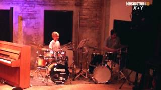 Drum duo with my 11 year old student