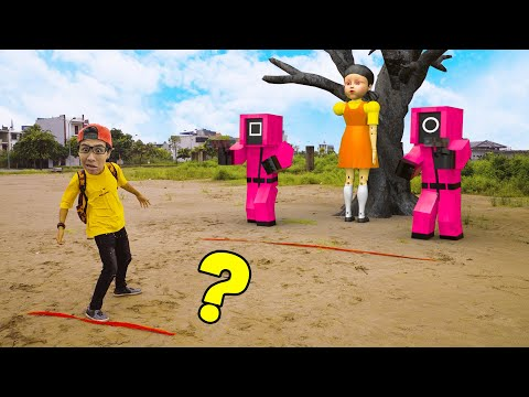 Scary Teacher 3D In Real Life : Play Squid Game | Squid Game challenge