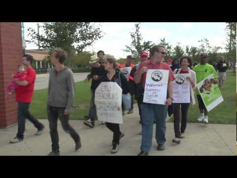 Labor Strike - In September 2012, temp workers at the WalMart warehouses in Elwood, IL, went on a successful 21 day strike against manager retaliation, unsafe working condi...