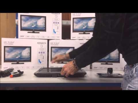 TV DVD 15.6' LED TNT antarion 12 v ET 220V pour camping car , camion , bateau