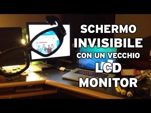 DIY monitor invisible visionabile solo con lenti polarizzate