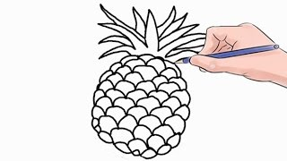 Easy step by step tutorial on how to draw a pineapple, pause the video at every step to follow the steps carefully. Enjoy ;)- Facebook: https://www.facebook.com/HowtoDrawSimply