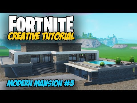 Fortnite Creative Tutorial: Modern Mansion Build #5