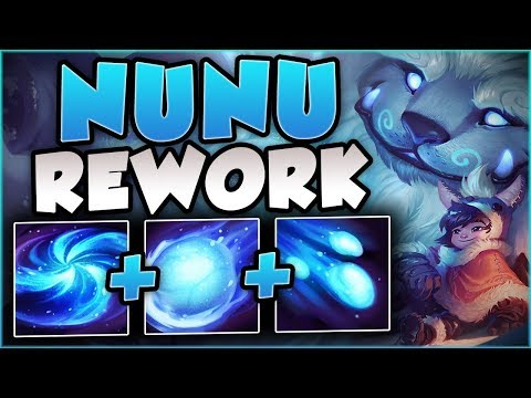 NEW REWORKED NUNU IS ACTUALLY 100% BUSTED IN TOP! REWORKED NUNU TOP GAMEPLAY! - League Of Legends