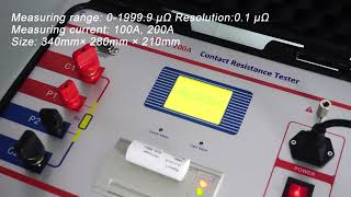 200 A Micro-ohmmeter With Dualground Safety Circuit Breaker Contact Resistance Tester youtube video