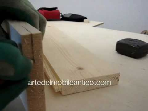 costruire un piano di legno con incastro doghettato build a wooden surface with joint doghettato