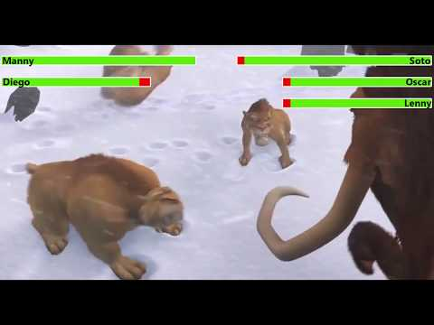 Ice Age (2002) Final Battle with healthbars 3/3 (5K Subscriber Special) (Edited By @Kobe W)