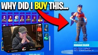 RARE SKINS I REGRET BUYING... Fortnite