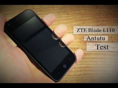 ZTE Blade L110 Antutu Benchmark Test (Ver. 6.2.1) (видео)