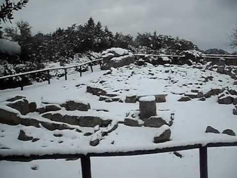 "Necropoli ""Li Muri"" sotto la neve -Li Muri im Schnee am 05.02.2012"