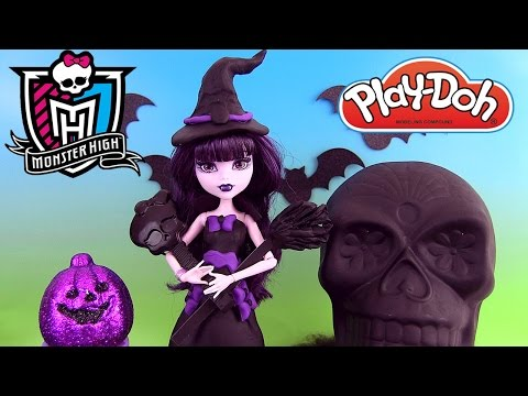 Play Doh Monster High Poupée Elissabat Doll Halloween Costume Pâte à modeler