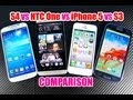 Samsung Galaxy S4 VS iPhone 5 VS HTC One VS Samsung Galaxy S3 Comparison Test